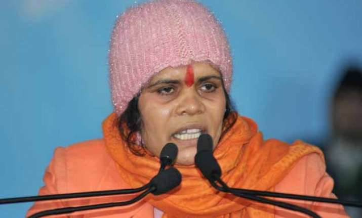 sadhvi prachi asks youth not to idolise khan triumvirate