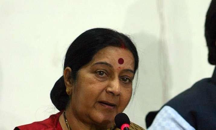 sushma swaraj to inspect pravasi bharatiya divas