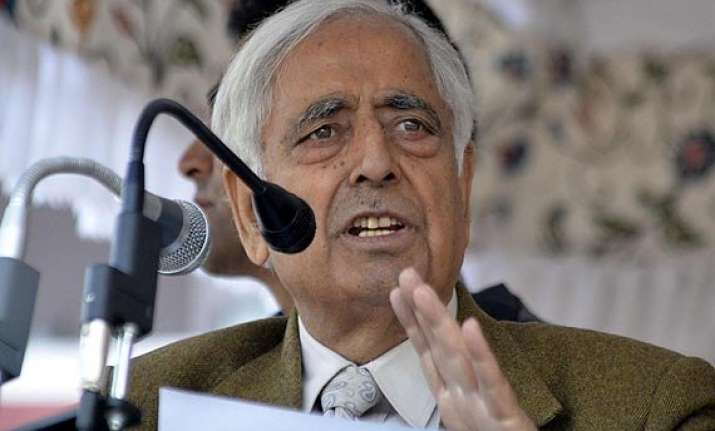 j k polls only pdp can stop rise of bjp says mufti mohammad