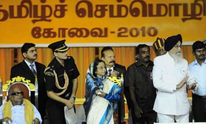 world tamil meet comes out as a dmk show of strength