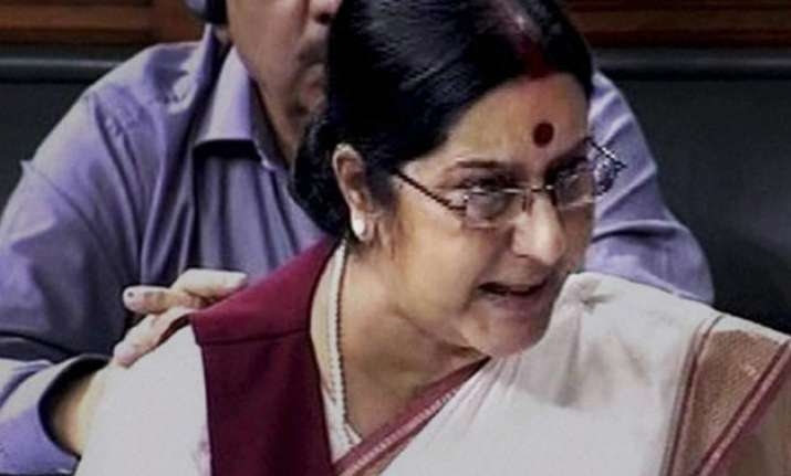 would sonia have left lalit modi s wife to die asks sushma