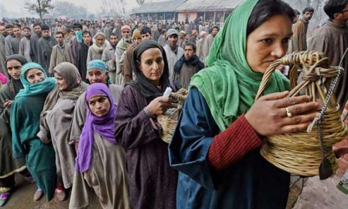 49 per cent polling in 4th phase in jammu kashmir