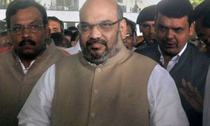 shah meets bhagwat said to have discussed j k land bill