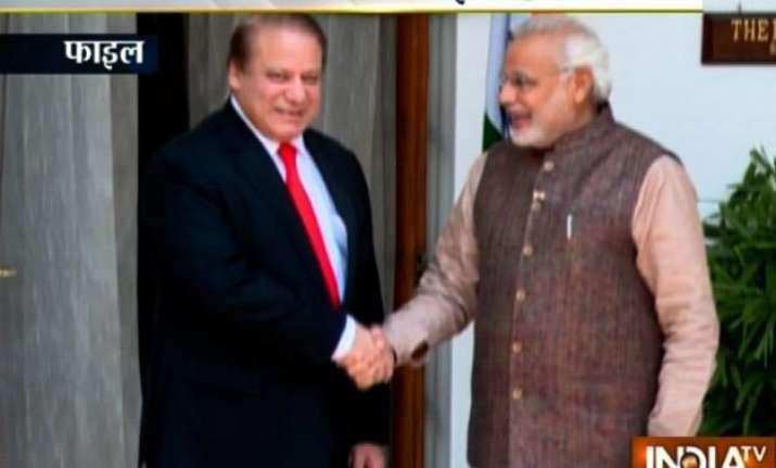 pm modi pak premier sharif holds bilateral talk in russia