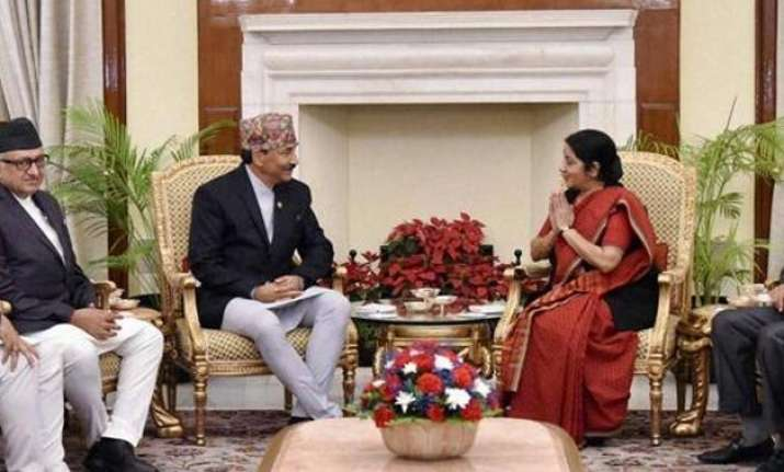 india wants nepal to credibly address challenges swaraj
