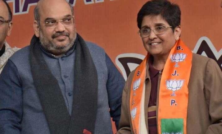 delhi polls amit shah defends projecting kiran bedi as