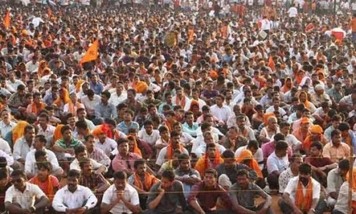 rss affiliated outfit holds protest against land bill