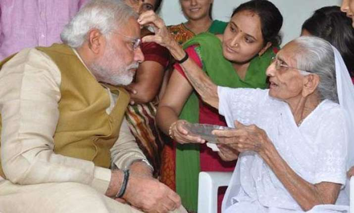 may 16 modi remembers his mother on 1st anniversary of his