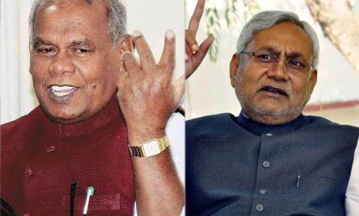bihar crisis jd u expels cm manjhi nitish meets governor at