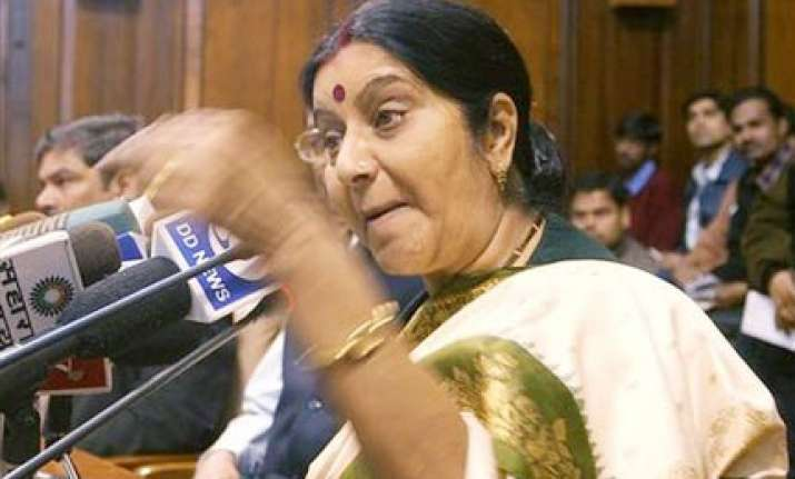 time for amicable solution to ayodhya says sushma swaraj