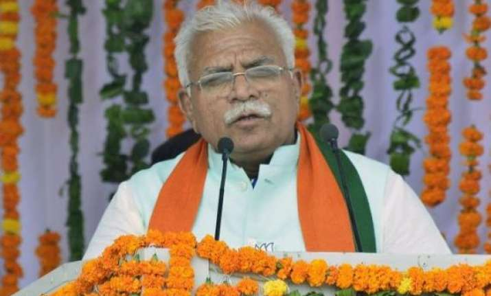 khattar to be haryana cm oath taking on sunday