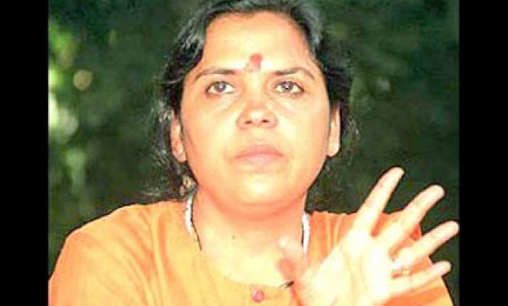 uma bharti demands 50 per cent reservation for women
