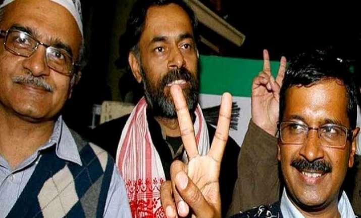 aap crisis prashant bhushan yogendra yadav may be out of