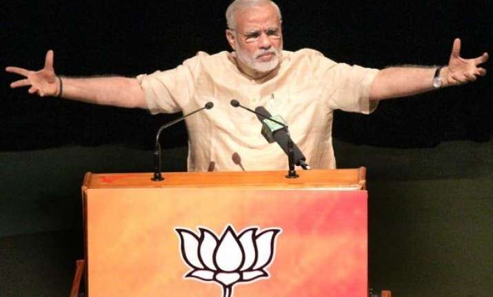 pm modi attacks opposition for projecting land bill as anti