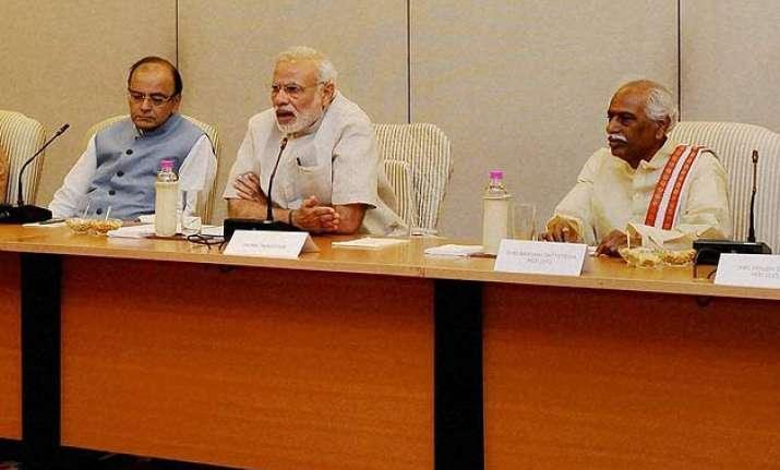 pm modi meets trade union leaders hear their views on eco