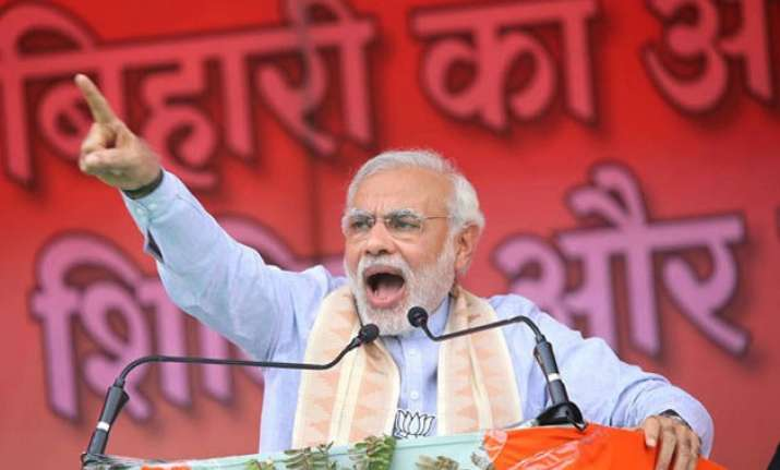 bihar polls pm modi slams grand alliance politics of