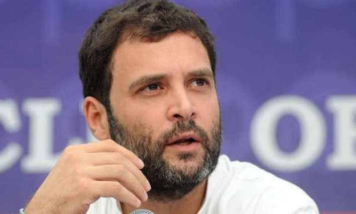 rahul gandhi takes dig at pm says congress wants kurta