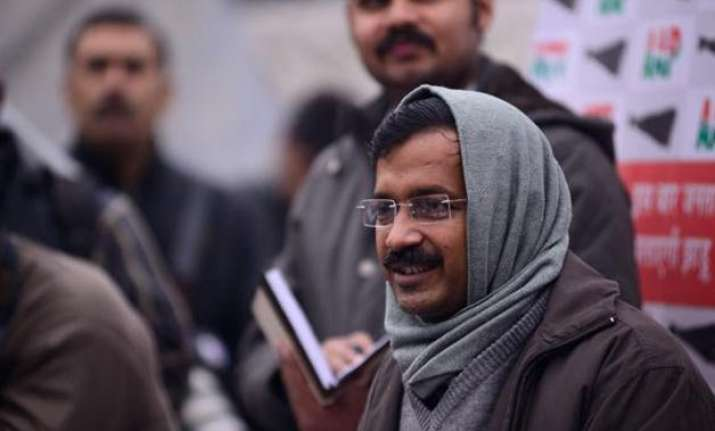 mufflerman arvind kejriwal in government ad irks bjp