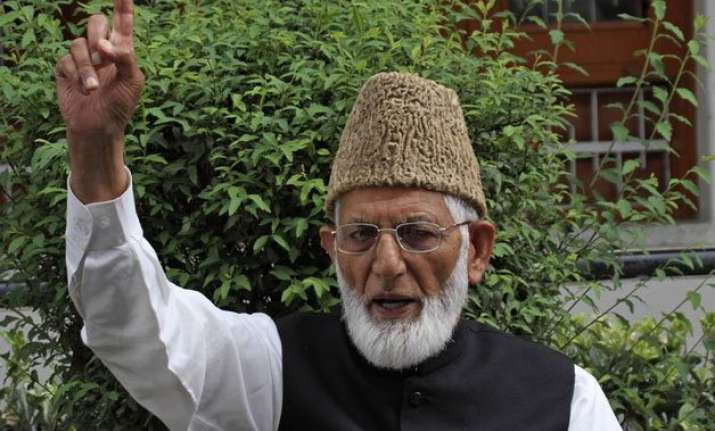 no terror in kashmir hurriyat leader geelani at pak high