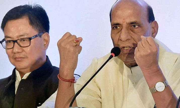 do not let intolerance arise between communities rajnath to