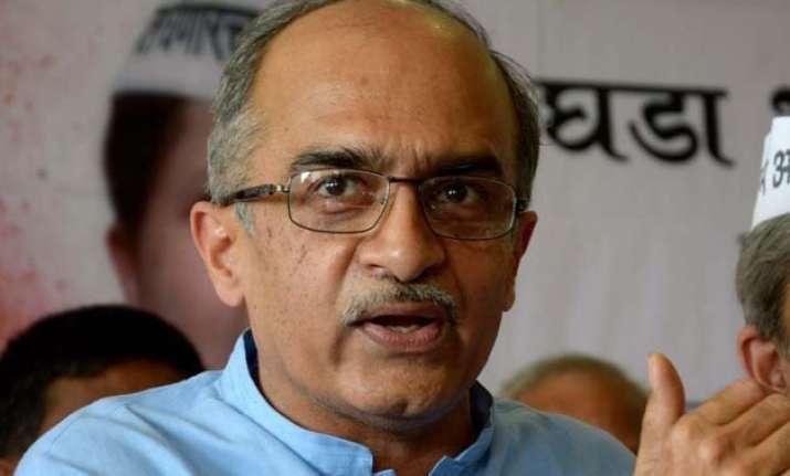 aap is a khap panchayat says prashant bhushan