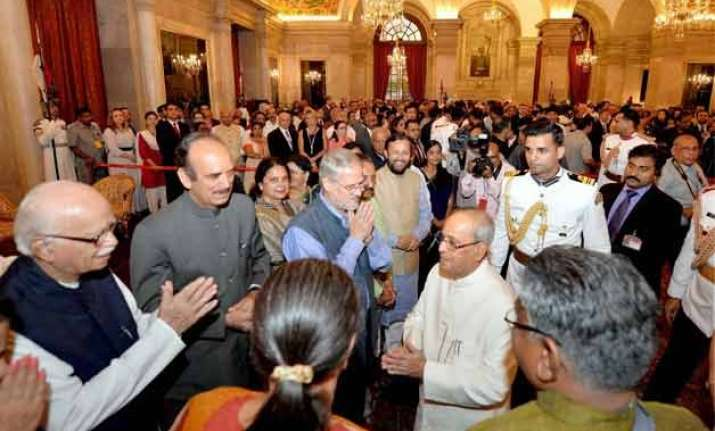 president s at home function held indoors due to rains