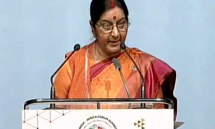 india africa united by goals of progress sushma swaraj