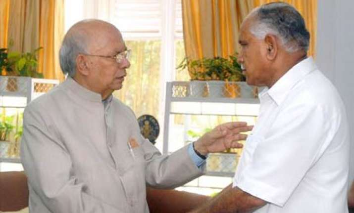 governor asks yeddy to prove majority in assembly on oct 12