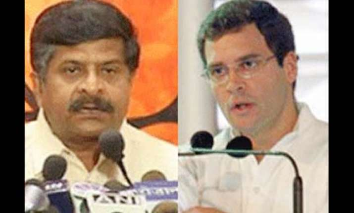 rahul still learning speaks what his team tells him to bjp