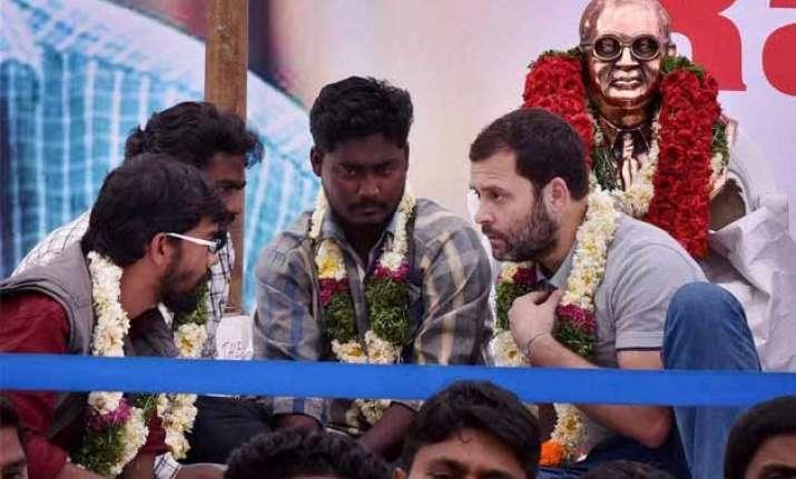 rahul gandhi using students as political tool bjp