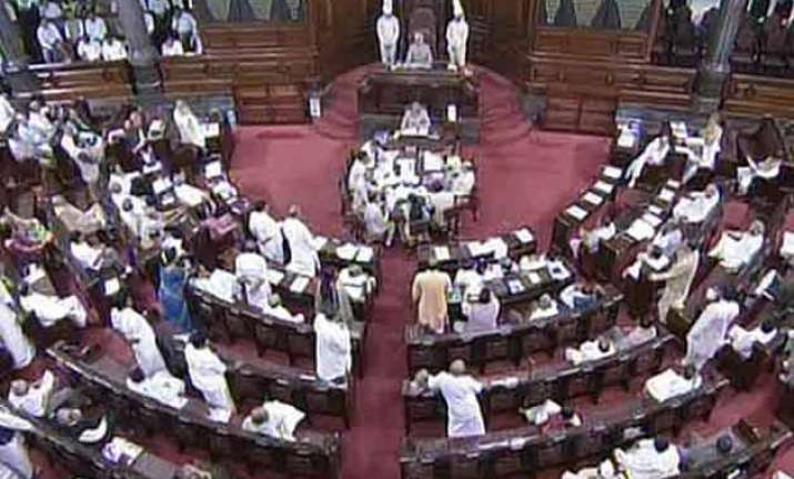 opposition forces adjournment of rajya sabha for over 40