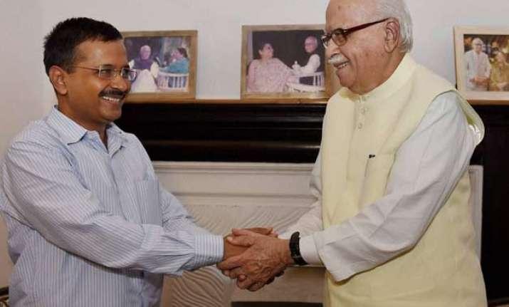 kejriwal meets advani