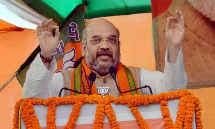bihar polls bjp moves ec to have fir against amit shah