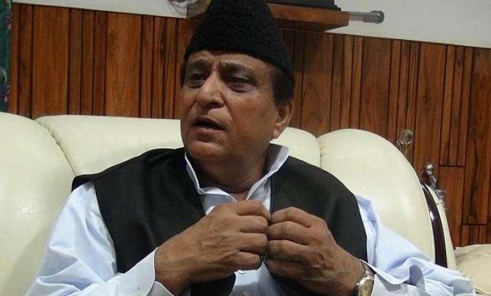 azam khan attacks rss says india an undeclared hindu rashtra