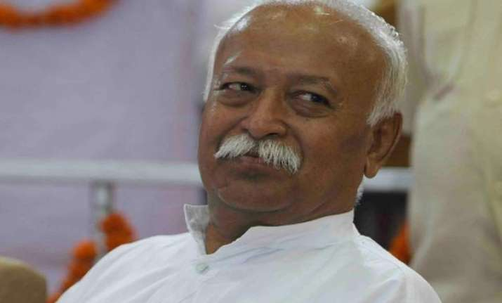 need to create a peaceful society mohan bhagwat