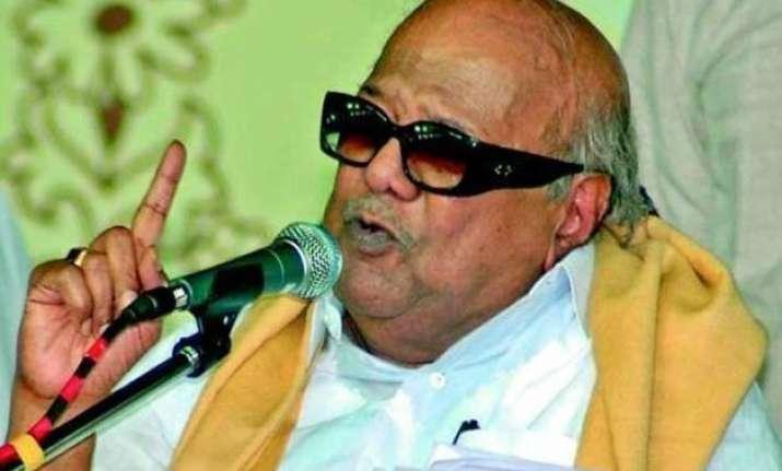karunanidhi condemns sri lankan pm s remarks on indian