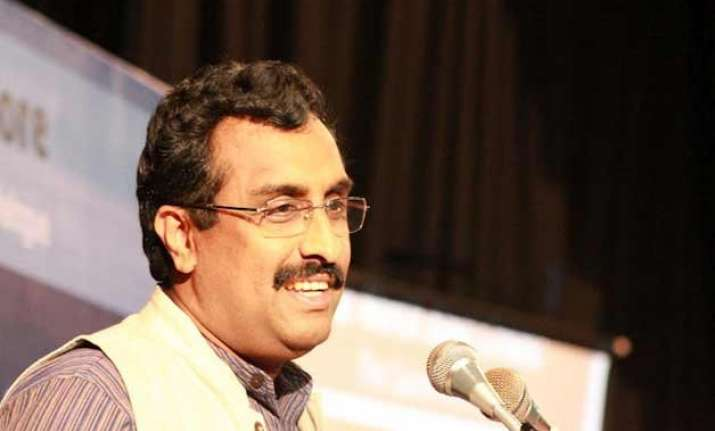 ram madhav differs with mufti sayeed on credit for polls