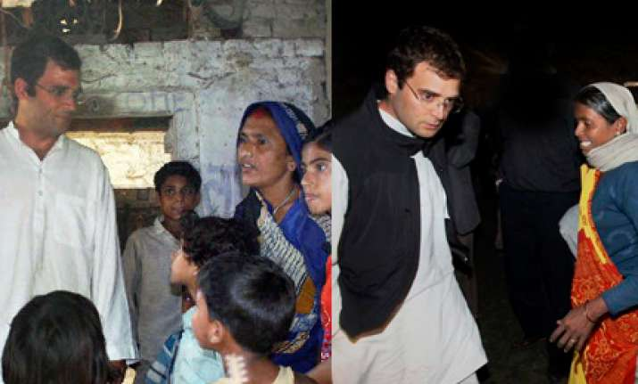 up cong leaders asked to stay in dalit houses