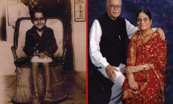 rare pictures of lk advani and family
