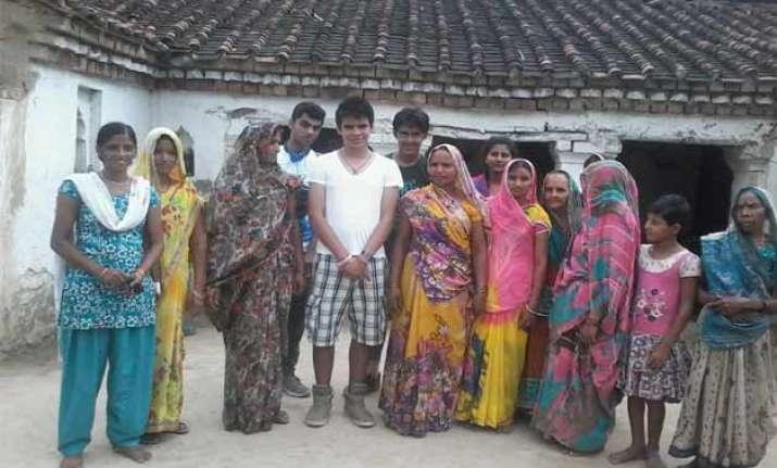 in pics priyanka gandhi s son raihan visits amethi
