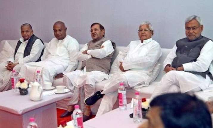 janata parivar merger today new party to be called