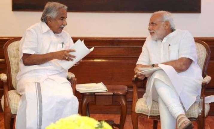 kerala cm oommen chandy calls on narendra modi