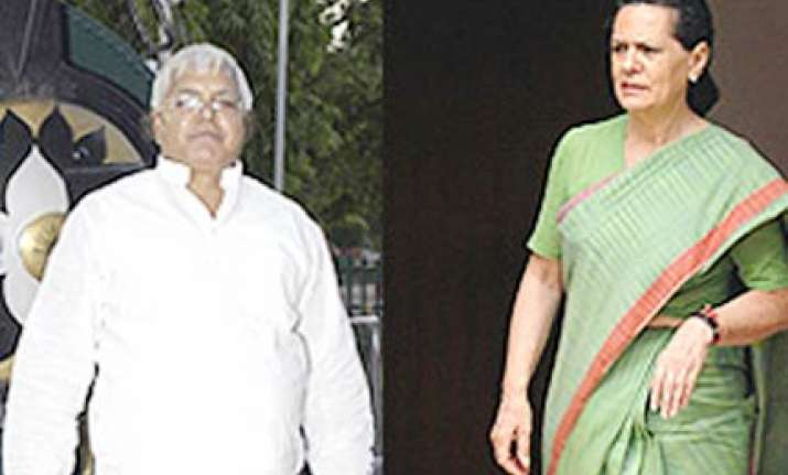 cong rules out post poll alliance with lalu s rjd in bihar
