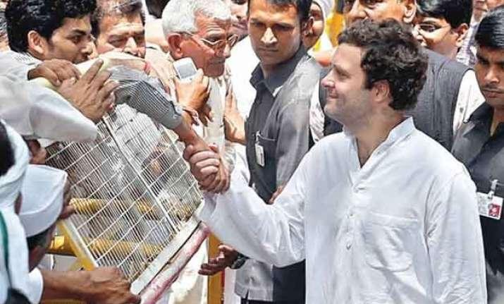 rahul gandhi on padyatra meets and comforts distressed