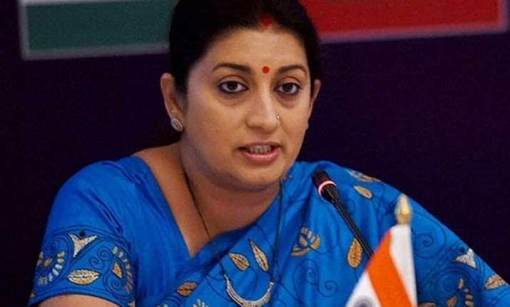 govt formed national policy on skill development smriti