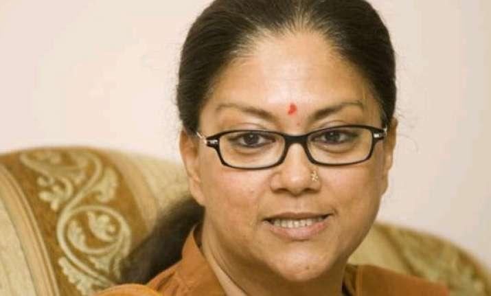 rajasthan cm vasundhara raje announces generous bonus for