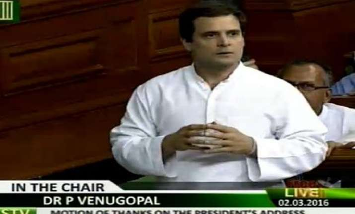 rahul gandhi takes modi government head on in parliament