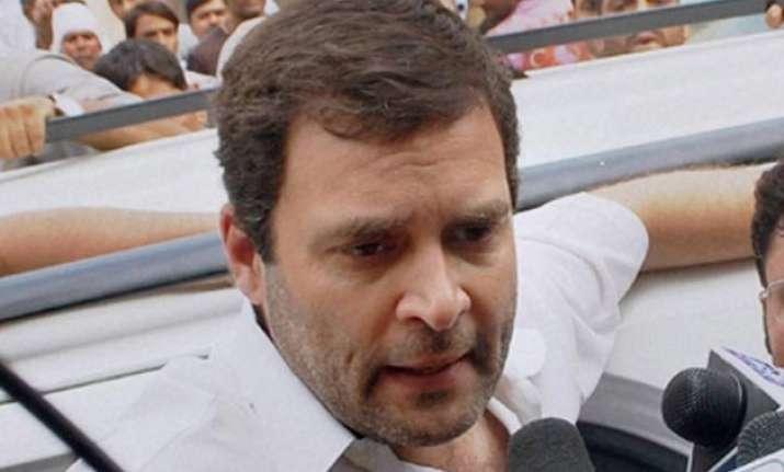 rahul gandhi loses temper when asked if visit to dalit