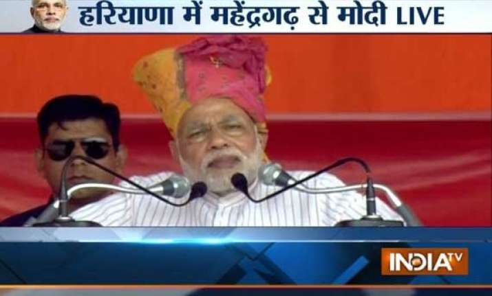 haryana polls let pm and cm work together like part of team