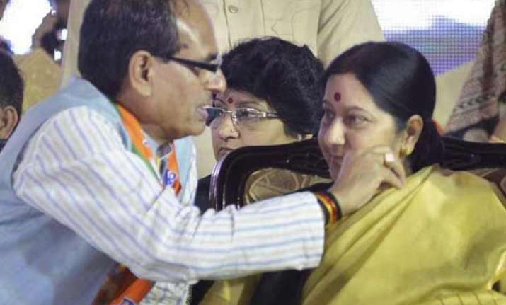 shivraj singh chouhan likely to meet sushma swaraj in delhi